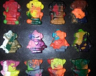 Recycled Crayons. Robot Crayons. Kids Crayons. Robot. Party Favors. Boy Crayons. Crayons. Rainbow Crayons.