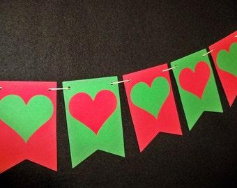 Christmas Wedding Banner Holiday Decoration Valentine Bunting Photo Prop Anniversary Garland