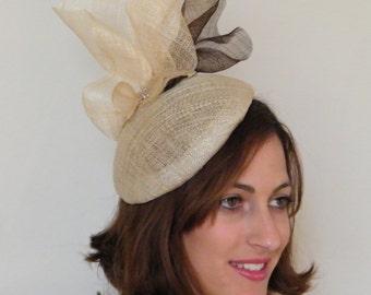 Kate Middleton ha / Natural cocktail hat / Ascot hat / summer fascinator / events hat / stylish summer hat - Derby hat Israel