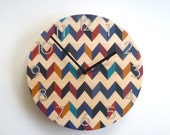 Objectify Retro Chevron Wall Clock With Numerals - Medium Size