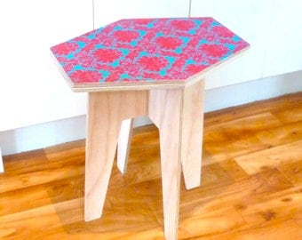 Objectify Printed Octagon Side Table