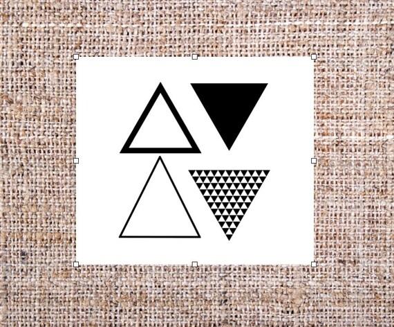 triangle de tatouages temporaires tatouage g om trique lot. Black Bedroom Furniture Sets. Home Design Ideas