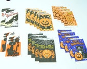 21 NOS Trick or Treat Surprises Halloween Vintage Candy Bags Pumpkin Cat Ghost Spider