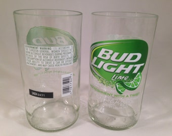 Bud Light Lime Recycled Glasses - Set of 2