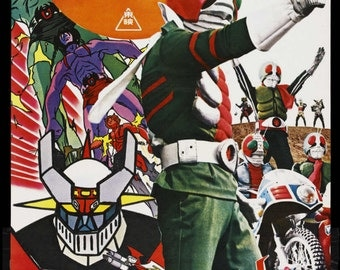 Kamen Rider vs Destron reproduction poster print