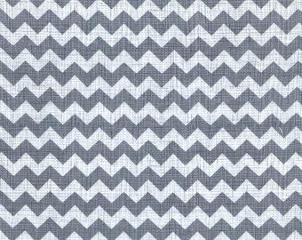 Zig - Gray Zig Zag Cotton Print Fabric from Timeless Treasures