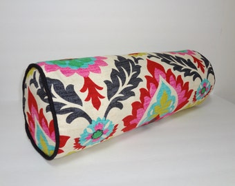 Waverly Santa Maria Desert Flower Bolster Pillow Decorative Pillow Neck Roll 9x20