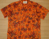 Mens Vintage 60's Waikiki Wear Rockabilly Hawaiian Aloha Shirt - L -  The Hana Shirt Co