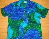 Mens Vintage 60's Mildred's Waikiki Wear Blue Elvis Hawaiian Aloha Shirt - L -  The Hana Shirt Co