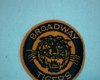 "Vintage 1970's  ""Broadway Tigers""  Jacket Patch ,  Embroidered"