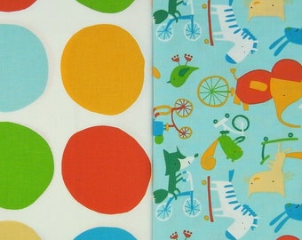 PLAY DATE printed cotton combi in turquoise