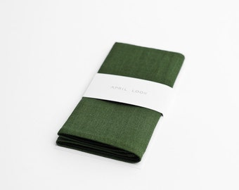 Gentleman's pocket squares in forest green