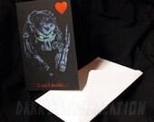 Predator Love - Awesome AVP Fun Friendship or Anniversary Card!