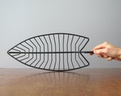 Mid Century Fred Press Iron / Steel Wire Leaf  Bowl / Basket