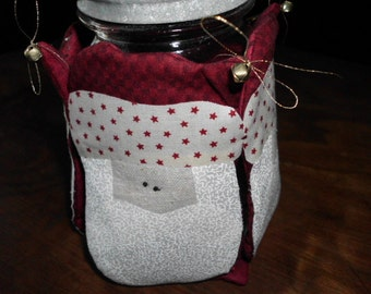 handmade Santa jar cover Ball jar cover