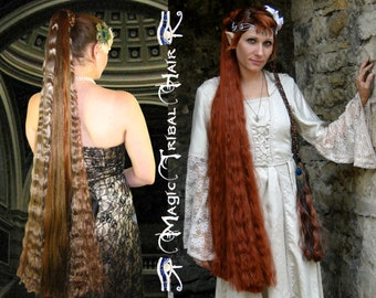 cosplay extension Woodland fairy costume wig Larp elf braid GothicWoodland Fairy Cosplay