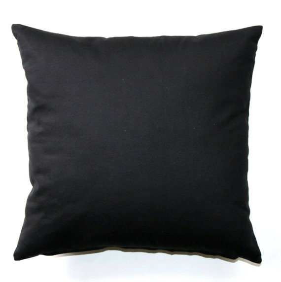 Solid Black Throw Pillows : Solid Throw Pillows Solid Black Pillow Cover Zippered