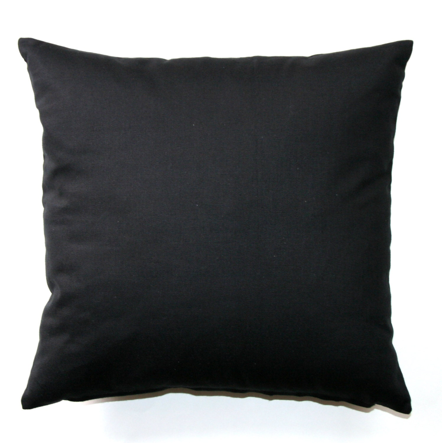Solid Throw Pillows Solid Black Pillow Cover Zippered