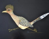 Vintage Couroc Roadrunner Quail Serving Bar Tray