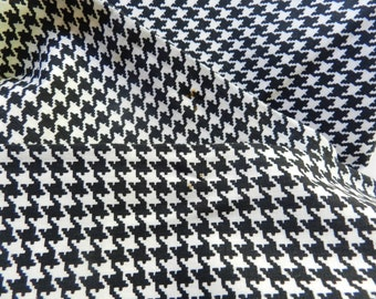 Vintage black and white ebony ivory houndstooth medium weight 1.75 yards halloween decor