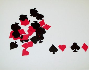 Game Night Confetti/ Poker Night/ Bachelor Party/ Card Playnig/ Decoraitng/ Party Supplies
