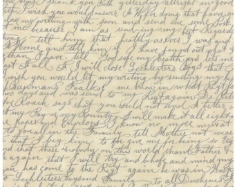 Passport etchings cotton script fabric by 3 Sisters for Moda fabric 3728 36