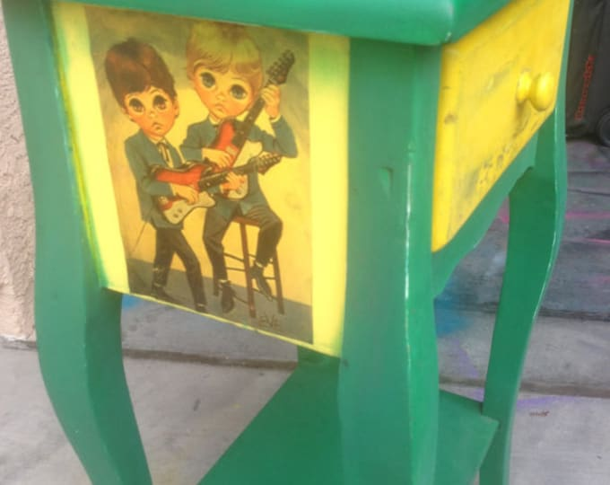 Upcycled Furniture, Repurposed Furniture, Upcycled Furniture For Sale, Reclaimed Furniture, Vintage Furniture, Mod Kids by Eve, Nightstand