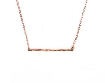 14k Rose Bar Necklace