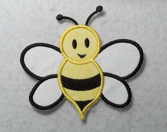 Bumble Bee - MADE to ORDER - Choose COLOR and Size - Tutu & Shirt Supplies - Iron on Applique Patch 6264