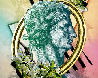 "Claudius, 11x14"" Metallic Photographic Print of Original Digital Artwork"
