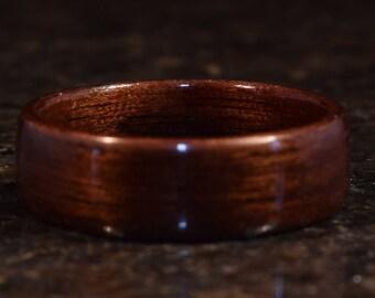 Hand Made ( Bentwood Method ) Macassar Ebony Ebony wooden ring