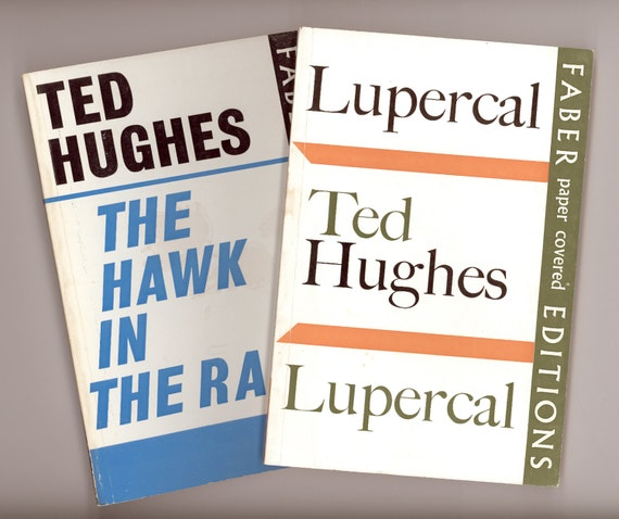 Ted Hughes Two Vintage Books Of Poetry Lupercal Amp The Hawk border=