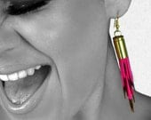 Hot Pink Porcupine Quill Earrings - Porcupine Quill Jewelry