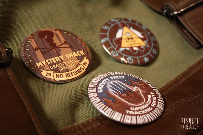 Gravity Falls Tablet Gravity Falls Pinback Buttons