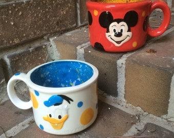 Mickey Mouse and Donald Duck Mug Set