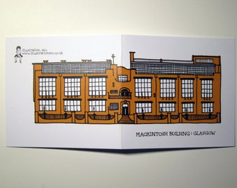 Glasgow Architecture notelet card - The Mackintosh Building
