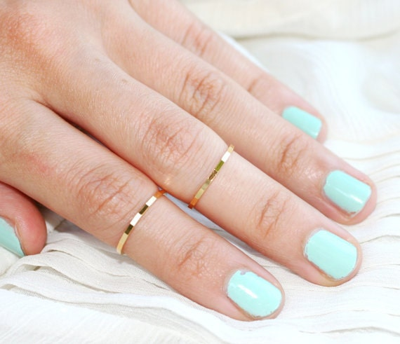 Two Rings   Any Color   Any Size   Any Texture    Stackable or Knuckle Rings