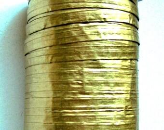 50 Yards of PAPER METALLIC GOLD Raffia