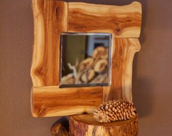 Heartwood aspen log mirror - Modern rustic decor - Rustic decor - Wood decor - Wood wall art,.