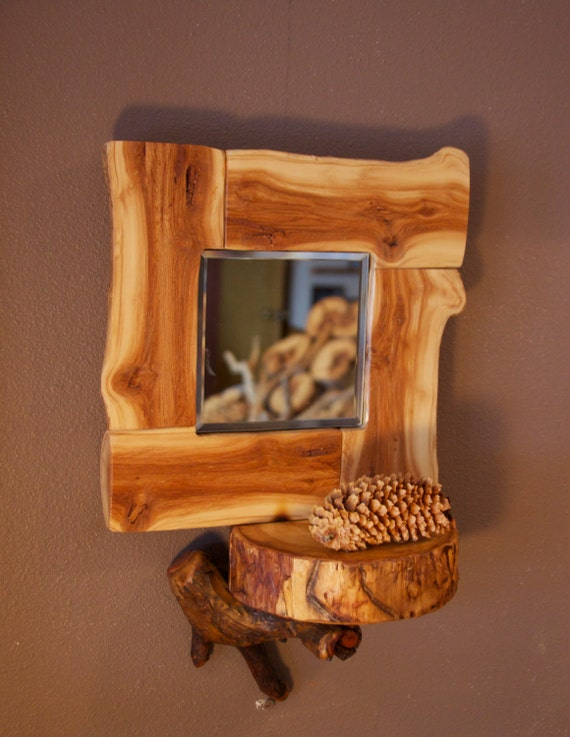 Heartwood aspen log mirror modern rustic decor by aspenspirit for Aspen logs for decoration