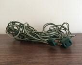 Vintage Green Christmas Tree Light Extension Cord 25 Feet