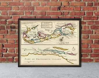 Old map of Bermuda Island - Decorative map