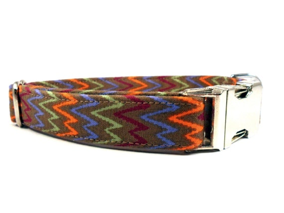Chevron in Brown Dog Collar
