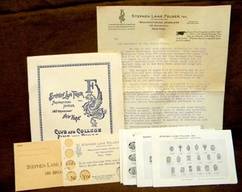 1918 Jewelers kit for selling school and club rings,Folgers Jewelry, complete with all materials