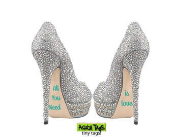 All You Need Is Love Sole Decal:  wedding shoes, wedding stickers, i do stickers, wedding shoe stickers, bridal stickers