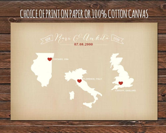 2nd Wedding Anniversary Gifts Traditional And Modern : Cotton Anniversary Gift Vintage Countries Gift for Husband