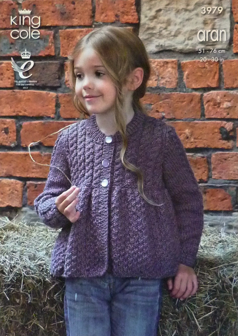 Knitting Pattern Cardigan 4 Year Old : Girls Knitting Pattern K3979 Childrens Long Sleeve Round Neck Smock Cardigan ...