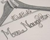 Glitter Wedding Dress Hanger, Personalized Hanger, Name Hanger, Bride Hanger, Bling Hanger, Gift For Bride
