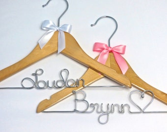 Personalized Baby Hanger For Baby Showers and Other Gifts, Custom Colors Available