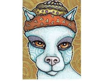 ACEO Original Dog Illustration, Streetwise the Pooka